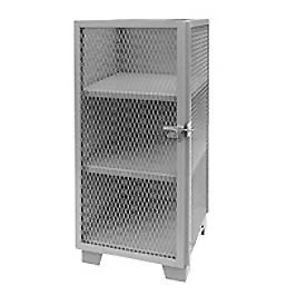 "Global™ Heavy Duty Narrow Storage Cabinet ME224-SF - Expanded Mesh Door 24""W x 24""D x 66""H"