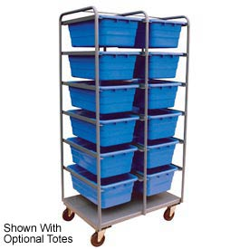 Jamco All Welded Steel Lug Tote Cart TL236-U5-AS-NB - 12 Lug Tote Capacity, No Totes