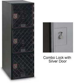 Modular Box Locker 11-1/2 X 18 X 38 Three Clear Door With Combination Lock