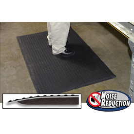 "Noise  Reduction Antifatigue Mat 9/16"" Thick 36"" X 60"" Black"