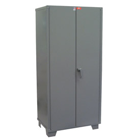 "Jamco Heavy Duty Storage Cabinet DL148-GP - Welded 14 ga. 48""W x 18""D x 78""H, Gray"