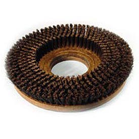 "Powr-Flite 15"" Poly Shower Feed Brush With Clutch Plate For Carpet"