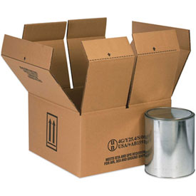 Four - 1 Gallon Haz Mat Box -Hold Four (4) 1 Gallon Containers - 10 Pack