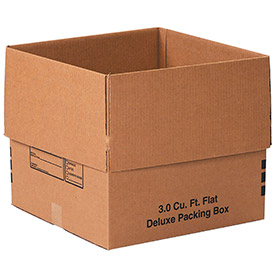 Flat Deluxe Packing Box 3.0 Cu. Ft. 200lb. Test/ECT-32 - 20 Pack