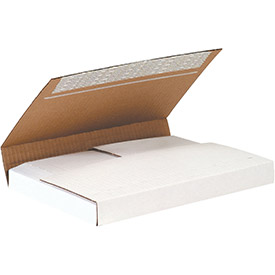 "White Self Seal Bookfold 11-1/8"" x 8-5/8"" x 2"" 200lb. B Test - 25 Pack"