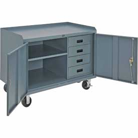 48 x 26 4 Drawer Mobile Cabinet Bench