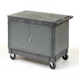 "Mobile Workcenter Maintenance Cart with 5"" Rubber Casters"