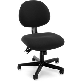 OFM 24 Hour Task Chair - Fabric - Low Back - Charcoal