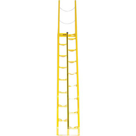 Alternating Stair 10' 16-Step Ladder, 56° Angle - ATS-10-56