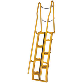 Alternating Stair 9' 15-Step Ladder, 68° Angle - ATS-9-68
