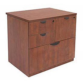 4 Drawer Combination File in Cherry Finish