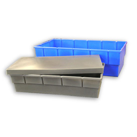 Bayhead Storage Container BC-4721 - 48-1/2 x 23 x 13-1/2 Blue