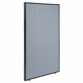 "Interion™ Office Partition Panel, 48-1/4""W x 60""H, Blue"