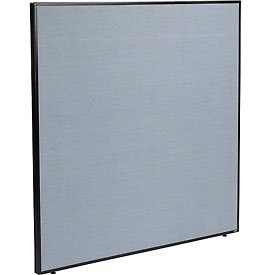 "Interion™ Office Cubicle Partition Panel, 60-1/4""W x 60""H, Blue"