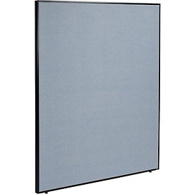"Office Partition Panel, 60-1/4""W x 72""H, Blue"