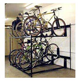 "8-Bike Rack Double Decker, Non-Locking, 54""W X 63""D"