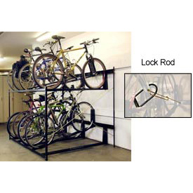 "8-Bike Rack Double Decker, Locking, 72""W X 63""D"