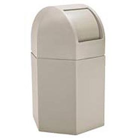Waste Container with Dome Lid - 45 Gallon Beige