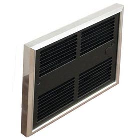 TPI Low Profile Commercial Fan Forced Wall Heater HF4415T2RP - 1500/1125W 240/208V Silver