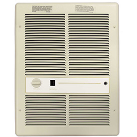 TPI Fan Forced Wall Heaters With Summer Fan Switch HF3316T2SRP - 4000/3000/2000/1500W 240/208V Ivory