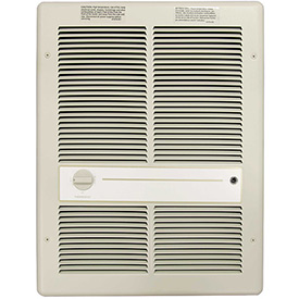 TPI Fan Forced Wall Heater HF3316TRP - 4000/3000/2000/1500W 240/208V Ivory
