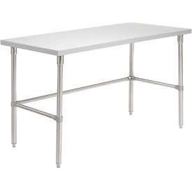 60 X 30 Plastic Laminate Square Edge Workbench with Stainless Steel Legs