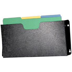 Steel Wall File Pockets Legal Size - Black