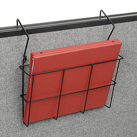 Wire Wall Magazine Rack Letter Size Black 1 Pocket