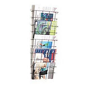 Wire Wall Magazine Rack Legal Size Black 5 Pockets