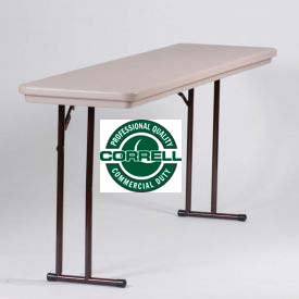 Portable Folding Table 18 x 72 - Mocha Granite
