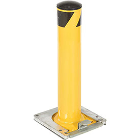 Removable Steel Bollard With Removable Rubber Cap 24 X 5-1/2