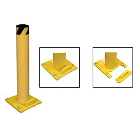 Removable Steel Bollard With Removable Rubber Cap 42 X 5-1/2