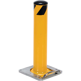 "Removable Steel Bollard With Removable Rubber Cap 24""H x 5-1/2"" Dia. Bollard"