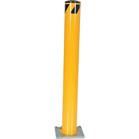 "Removable Steel Bollard With Removable Rubber Cap 48""H x 5-1/2"" Dia. Bollard"