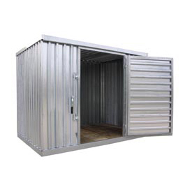 "Galvanized Steel Outdoor Storage Shed 9'2""W x 6'5""D x 7'1""H"