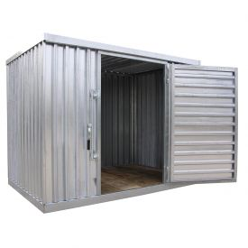 "Galvanized Steel Outdoor Storage Sheds 9'2""W x 12' 9""D x 7'1""H"