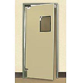 "Aleco® 3'0"" x 7'0"" Single Panel Medium Duty Beige Impact Door 432072"