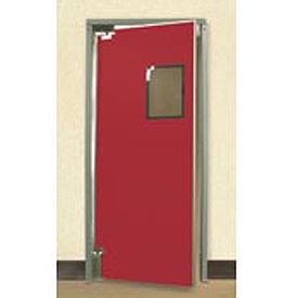 "Aleco® 3'0"" x 8'0"" Single Panel Medium Duty Red Impact Door 432080"