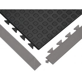 "Anti-Fatigue Rejuvenator Urethane Tile Matting Tile Black 5/8"" Thick 36x36"