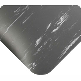 "Antimicrobial Tile Top Antifatigue Mat 7/8"" Thick 24x36 Charcoal"