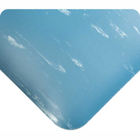 "Antimicrobial Tile Top Antifatigue Mat 7/8"" Thick 2 Ft Wide Up To 60ft Blue"