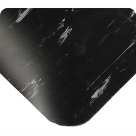 "Antimicrobial Tile Top Antifatigue Mat 1/2"" Thick 4 Ft Wide Up To 60 Ft Black"