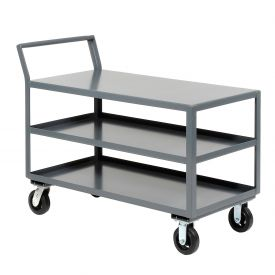 Jamco Three Shelf All-Welded Heavy Duty Service Cart LZ248 48x24 2000 Lb. Cap.