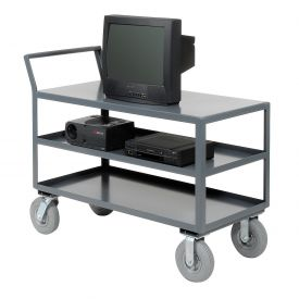 Jamco Three Shelf All-Welded Heavy Duty Service Cart LZ348 48x30 1200 Lb. Cap.
