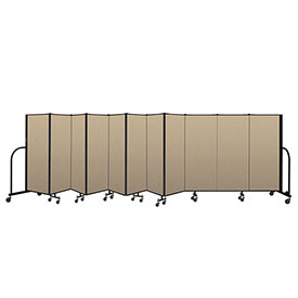"Screenflex Portable Room Divider 11 Panel, 5'H x 20'5""L, Vinyl Color: Oatmeal"