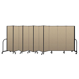 "Screenflex Portable Room Divider 11 Panel, 6'H x 20'5""L, Vinyl Color: Oatmeal"