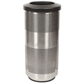 Perforated Stadium Series® Trash Container - 20 Gallon Stainless Steel