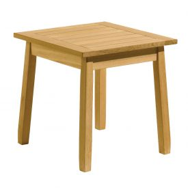 "Oxford Garden® 20"" Square Outdoor End Table - Teak"