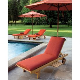 Oxford Garden® Oxford Chaise Cushion - Dupione Papaya