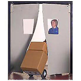"Aleco® 8' x 8' x 0.25"" Twin Panel Gray Flexible Impact Traffic Door 436016"